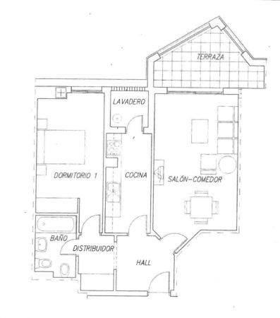 La Noria IV Urbanisation 1 bed plan