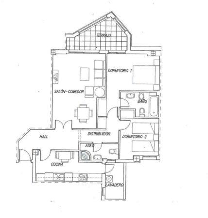 La Noria IV Urbanisation 2 bed plan