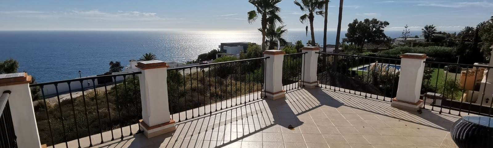 Sea view from a Manilva Property