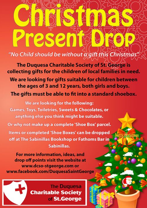 Gifts for the needy at christmas