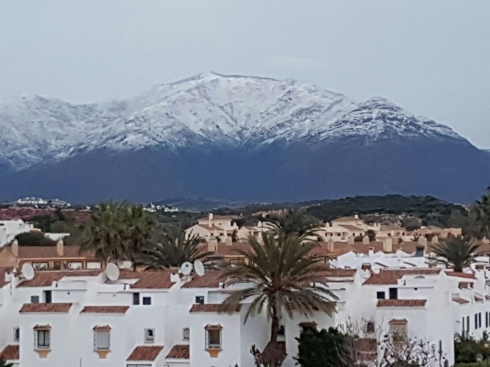 Snow on Estepona Mountain