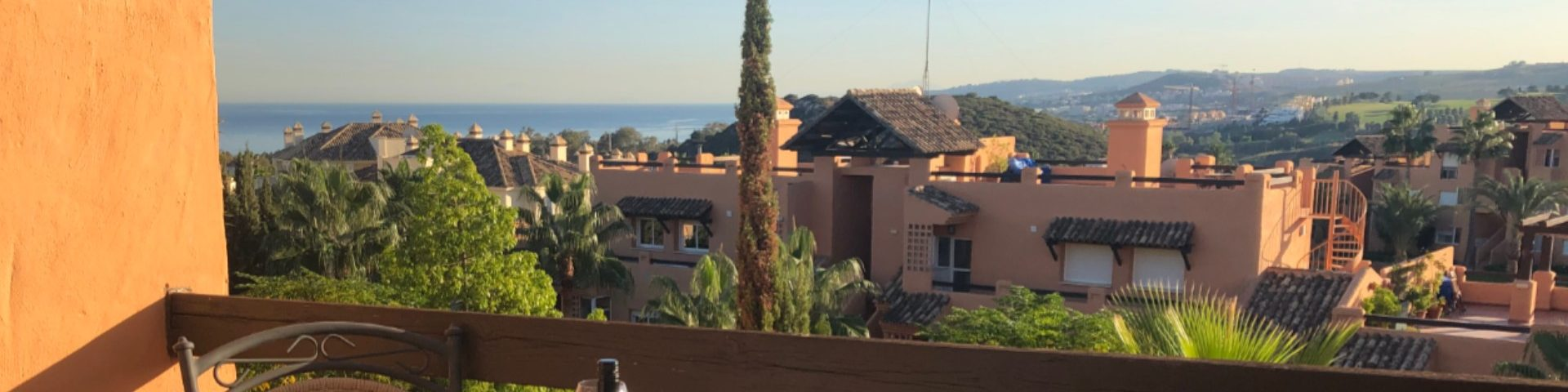 View from Casares del Sol Penthouse Terrace
