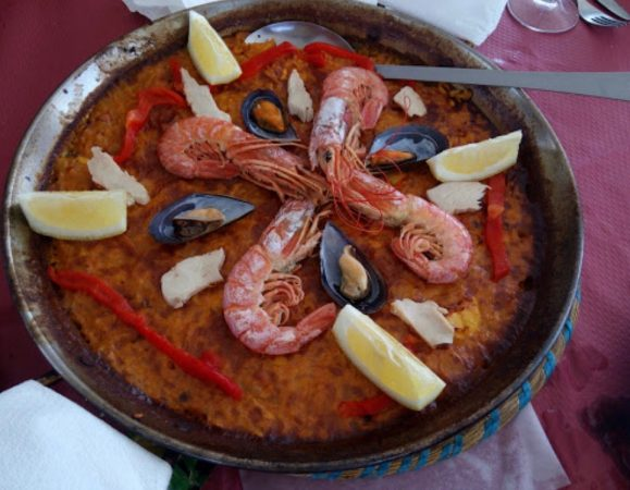Paella in a chiringuito - Duquesa Fairways Review