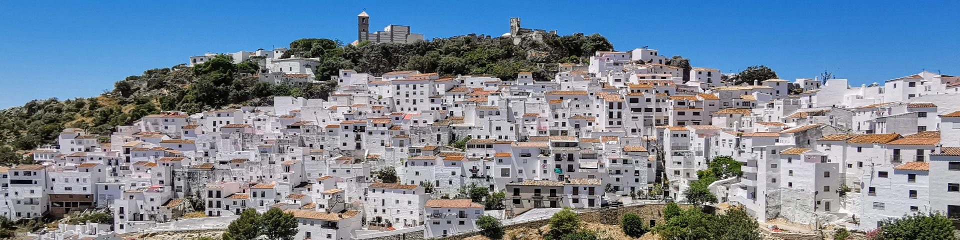 Photo of the white-washed village of Casares