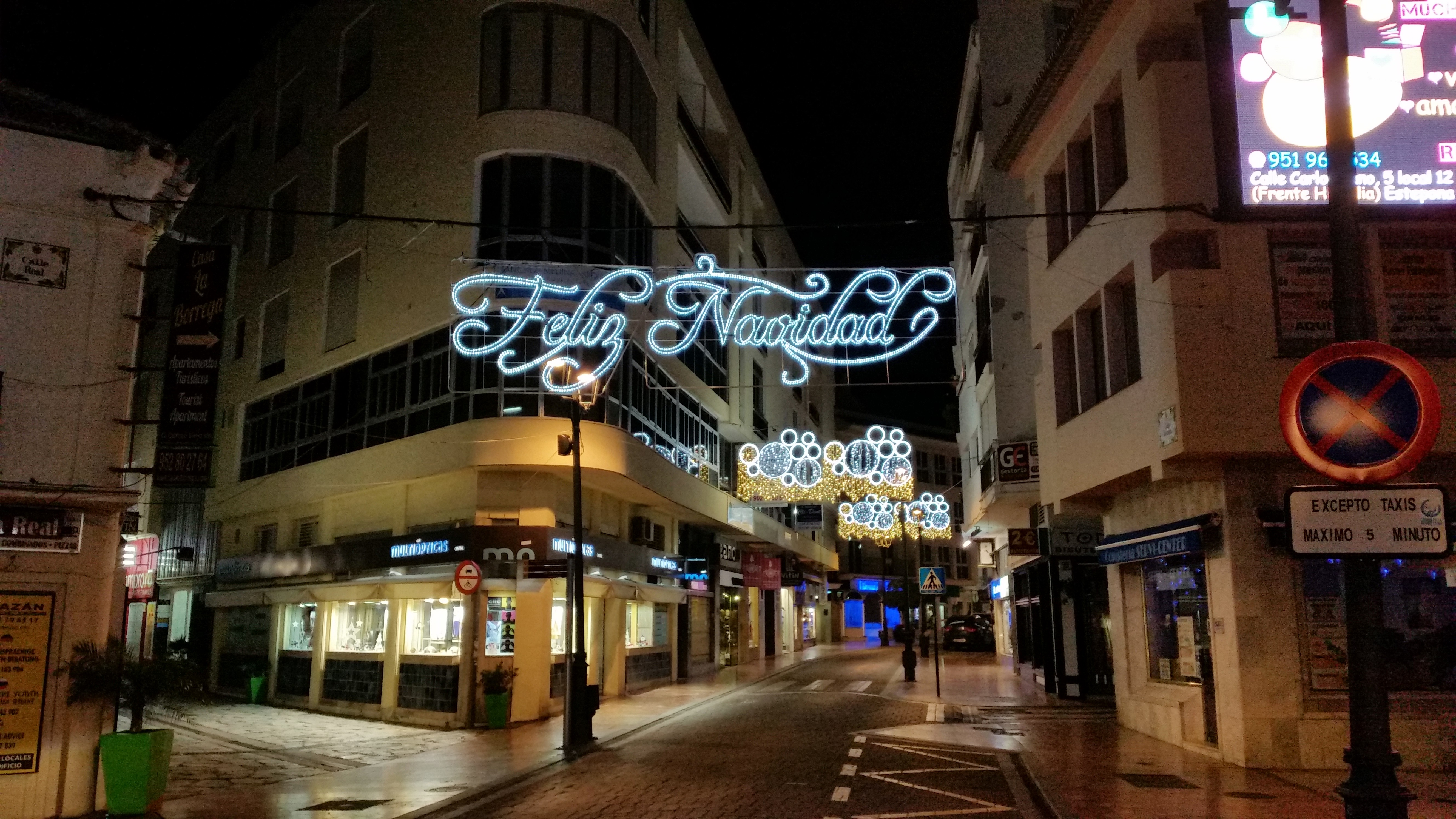 Christmas Lights in Estepona Town Centre