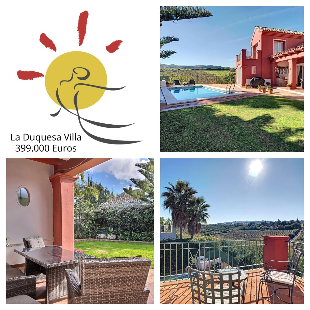 Collage of photos for villa for sale in La Duquesa