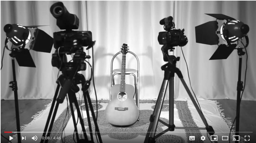 Cameras and a guitar