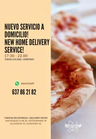 Busintoro delivery service - Italian Restaurant in Sotogrande offering takeaway