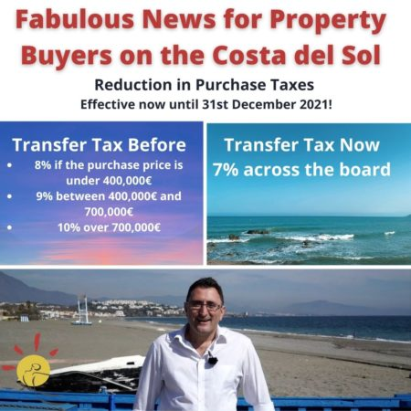Reduction in transfer tax until 31st December 2021