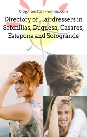 Hairdressers in Sabinillas, Duquesa, Casares, Estepona and Sotogrande