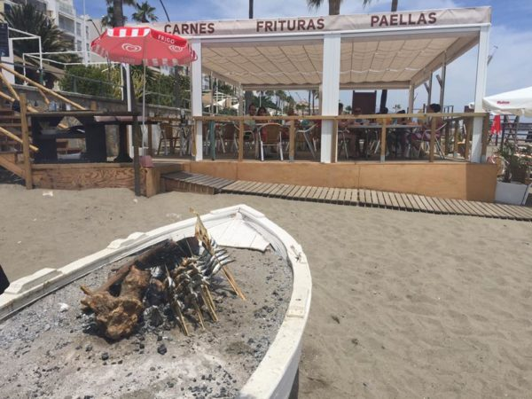Central beach Chiringuito Estepona