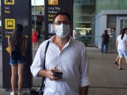 Andrew, travellers at Malaga airport, COVID-19 travel, Malaga airport during lockdown, travelling during a pandemic