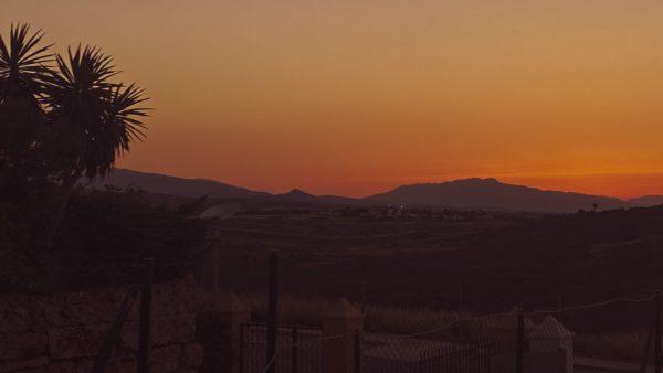 sunrise in Spain, Casares sunrise, sunset, pink sky, morning sky, sun rising