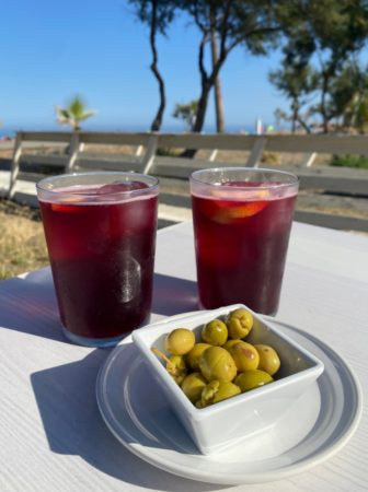 Chiringuitos, Tinto de Verano and olives, beach, food and drink, wining and dining, beach drinking, cocktails, sangria, summer drinks