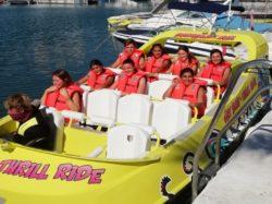 Jet scream thrill ride speed boat