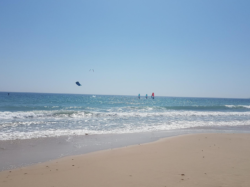 Tarifa beach wind surfing