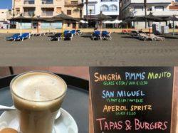 Coffee at Palms, Sabinillas Promenade