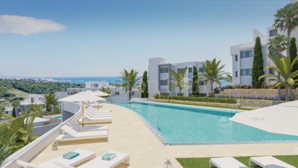 New development in Estepona private pool sea view