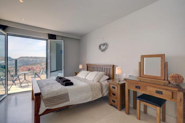 Beautifully dressed bedroom